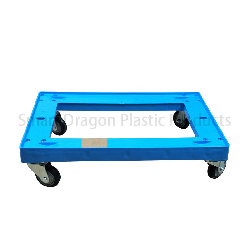 High Quality 4 Wheels Plastic Moving Dolly Hand Trolley