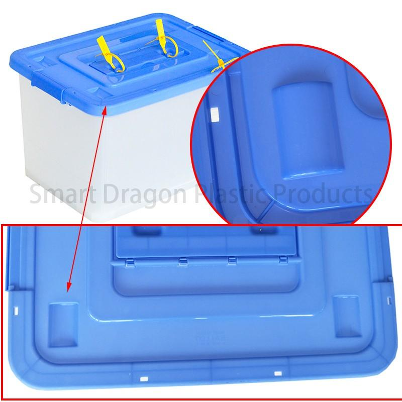 SMART DRAGON disposable extra large ballot box blue for election