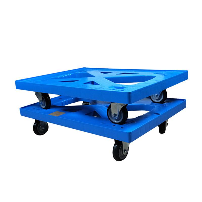 Plastic Heavy Duty Folded Four-Wheel Hand Trolley Cart