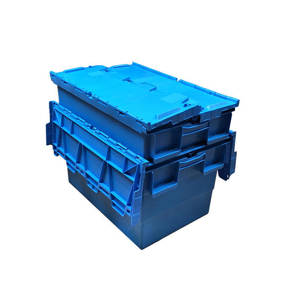 Solid Stack Nestable Plastic Turnover Boxes With Lid