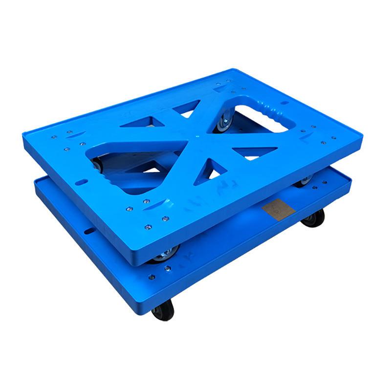 SMART DRAGON Brand wheeled moving pallet plastic trolley