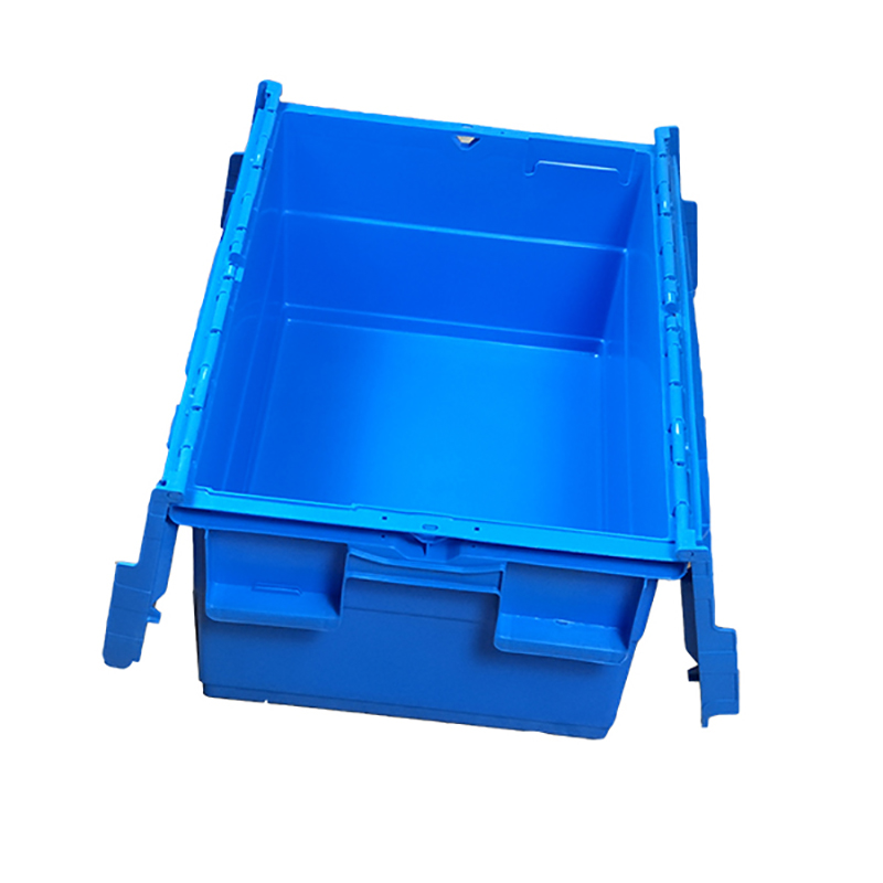 SMART DRAGON-Blue Stackable Nesting Plastic Turnover Boxes Crates With Lid | Plastic-3