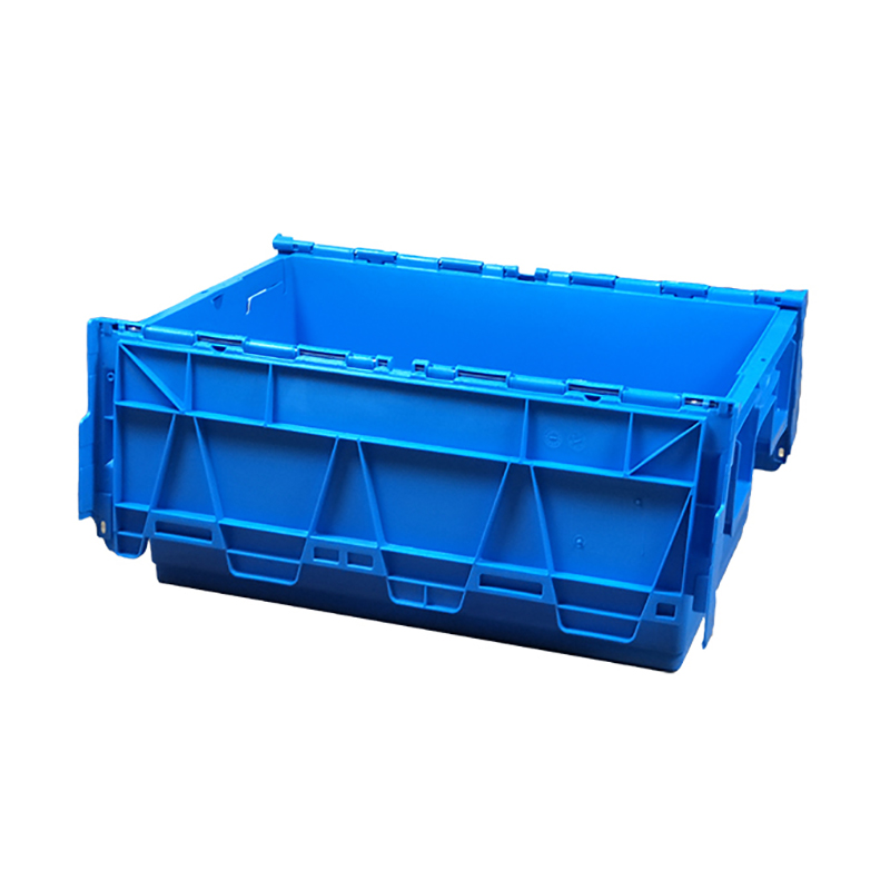 SMART DRAGON-Blue Stackable Nesting Plastic Turnover Boxes Crates With Lid | Plastic-4