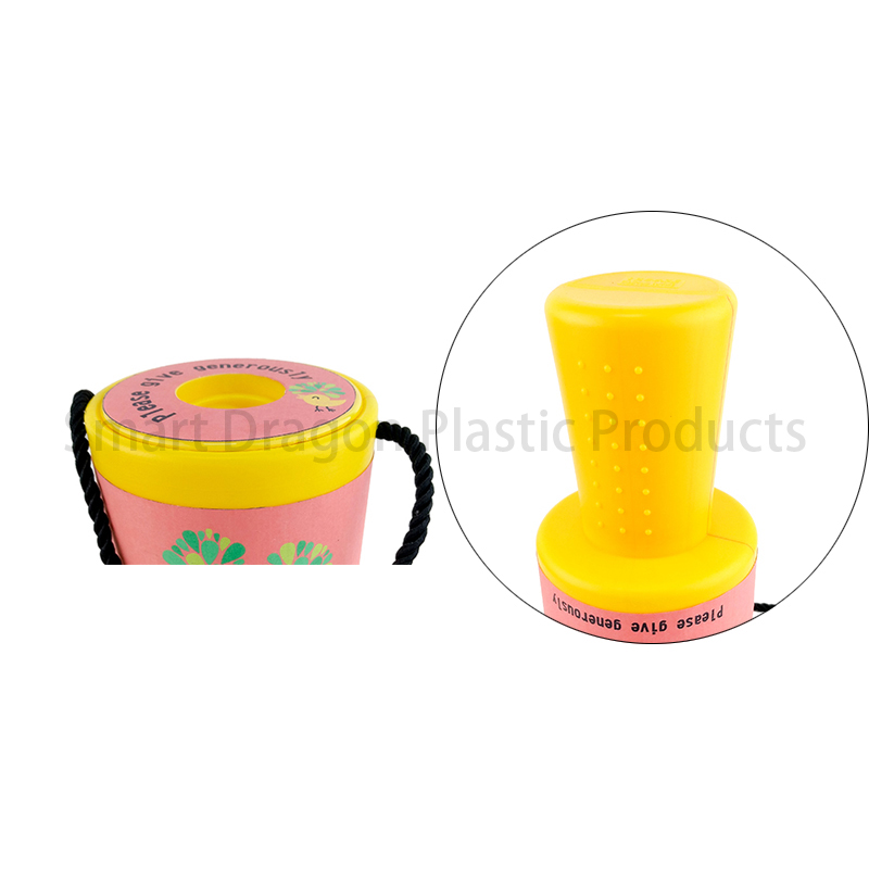 SMART DRAGON-Yellow Rounded Hand Held Plastic Collection Charity Box | Plastic