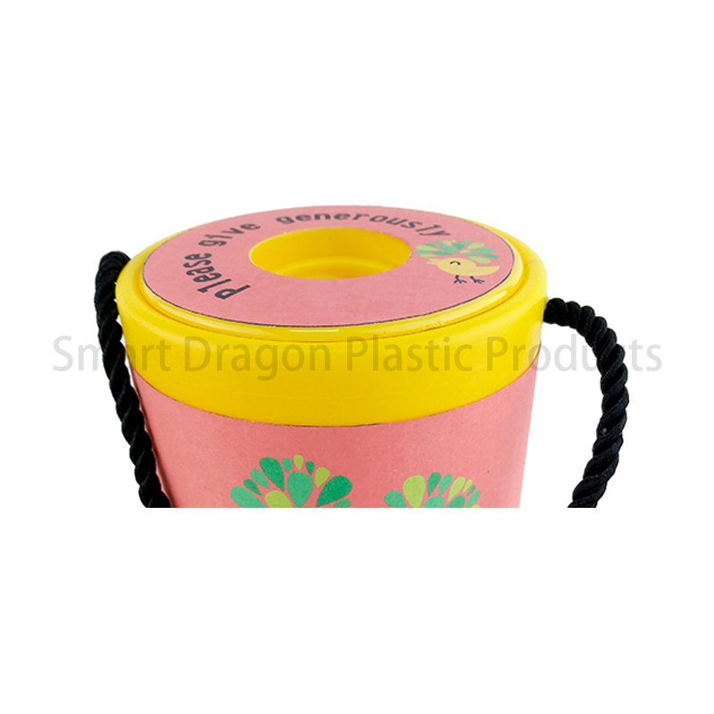SMART DRAGON-Yellow Rounded Hand Held Plastic Collection Charity Box | Plastic-1