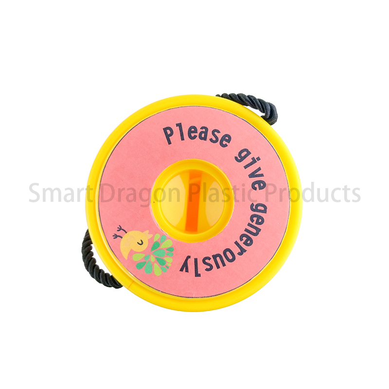 SMART DRAGON-Yellow Rounded Hand Held Plastic Collection Charity Box | Plastic-3