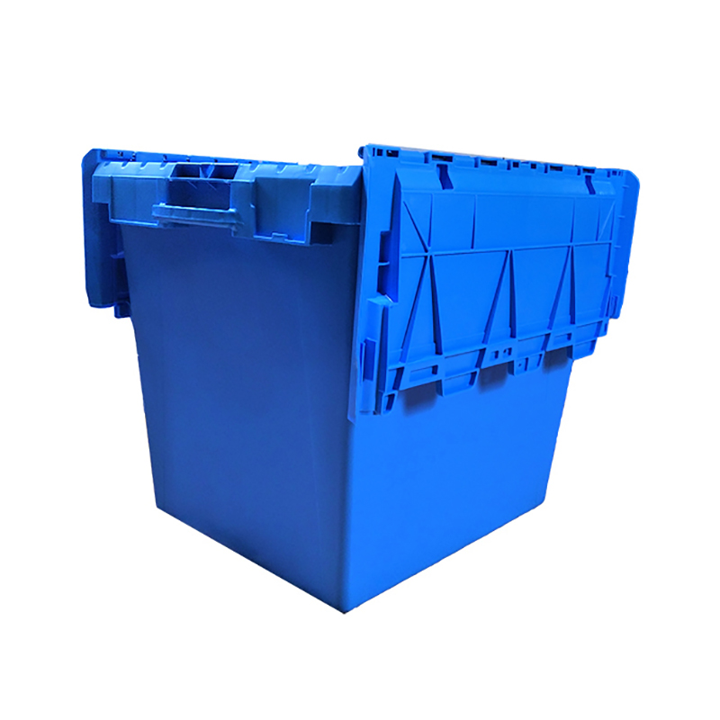 SMART DRAGON-Lidded Plastic Storage And Turnover Heavy Duty Plastic Box | Blue Turnover