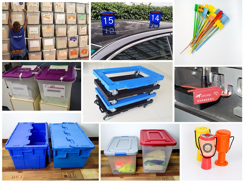 SMART DRAGON-Lidded Plastic Storage And Turnover Heavy Duty Plastic Box | Blue Turnover-5