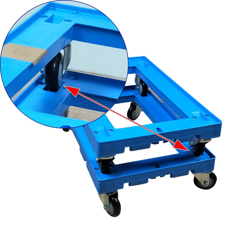 SMART DRAGON-New Plastic Moving Dolly 4 Wheels Trolley | Plastic Trolleys | Smart Dragon-1