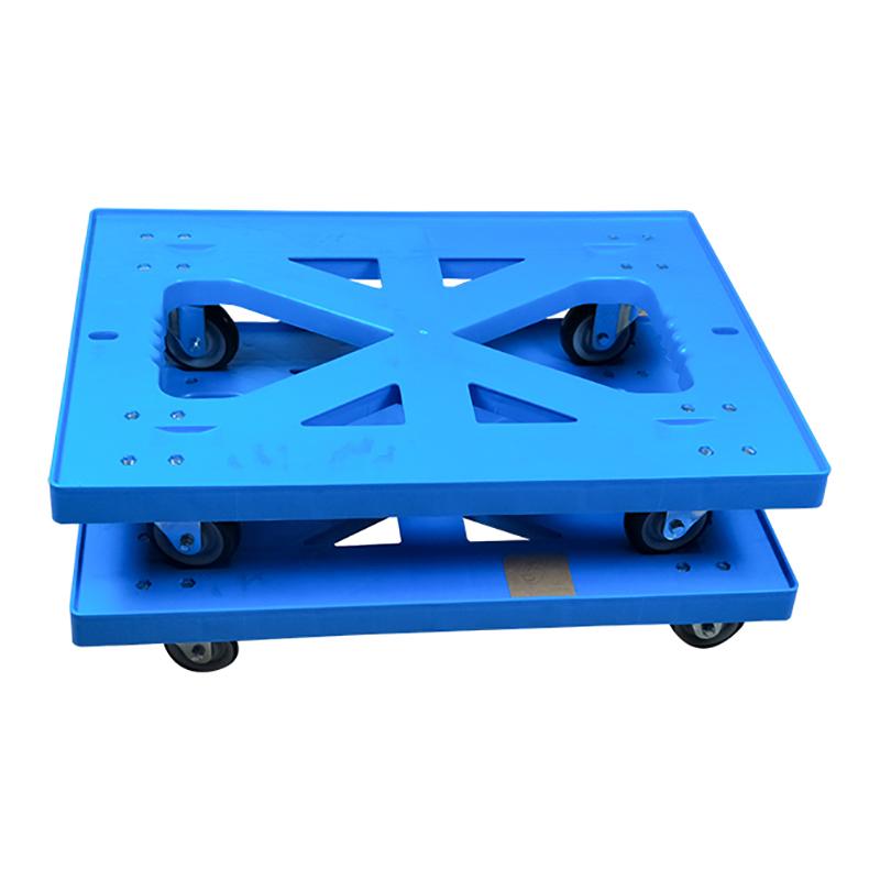 SMART DRAGON-High-quality Plastic Heavy Duty Folded Four-wheel Hand Trolley Cart | Plastic