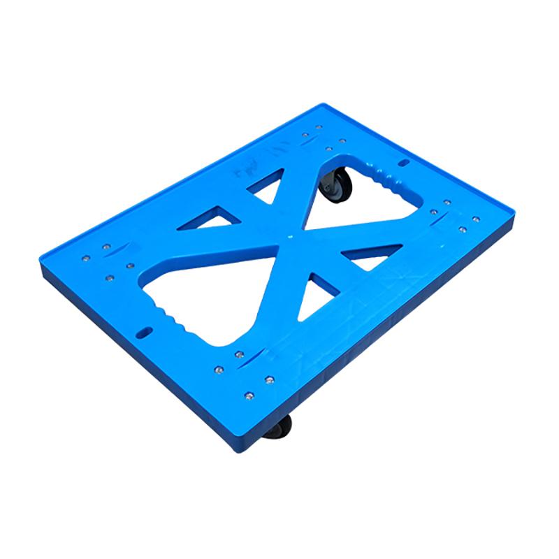 SMART DRAGON-High-quality Plastic Heavy Duty Folded Four-wheel Hand Trolley Cart | Plastic-1