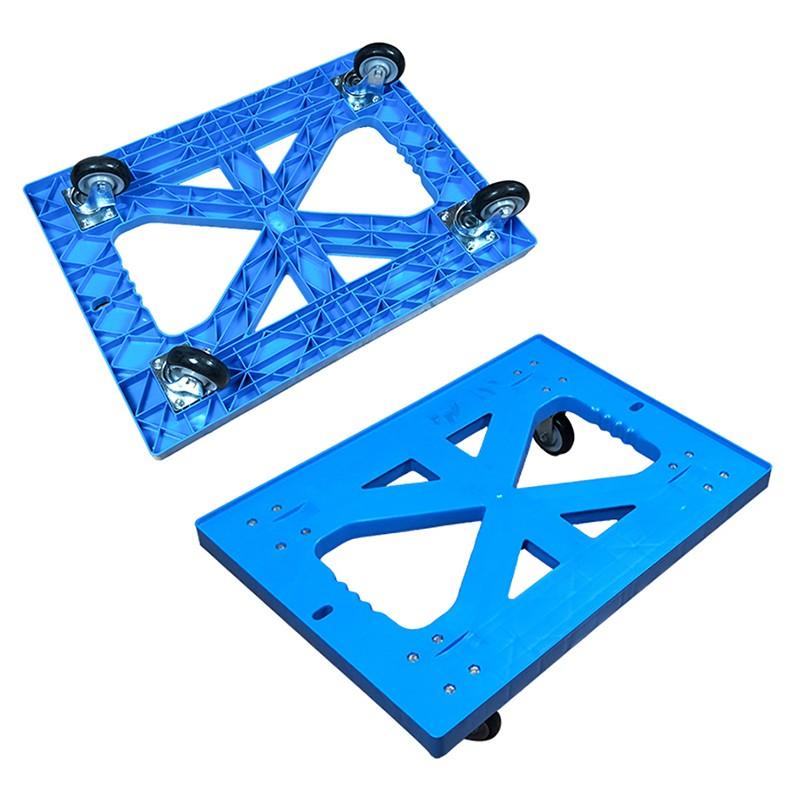 SMART DRAGON-High-quality Plastic Heavy Duty Folded Four-wheel Hand Trolley Cart | Plastic-3