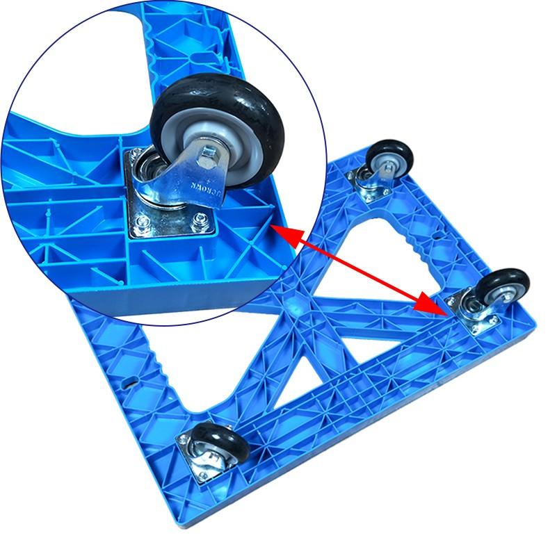 SMART DRAGON-High-quality Plastic Heavy Duty Folded Four-wheel Hand Trolley Cart | Plastic-4