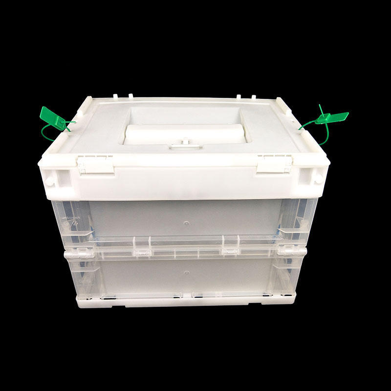 Folding Plastic Election Bin Ballot Box Voting Boxes With Security Seal