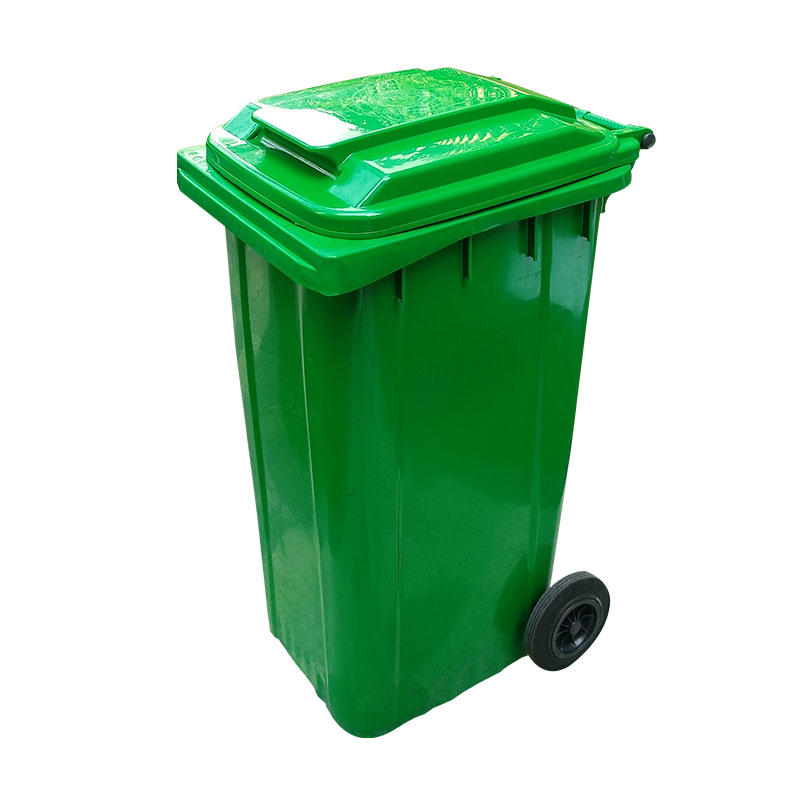 Outdoor 240L Plastic Wheeled Garbage Bin Trash Can Dustbin