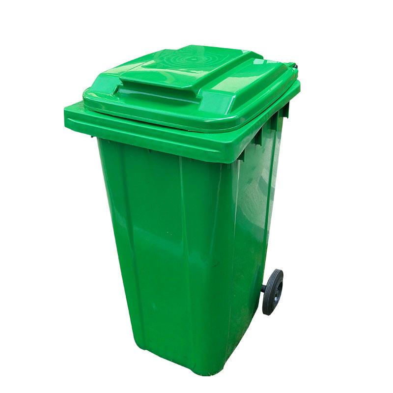 Outdoor 240L Plastic Wheeled Garbage Bin Trash Can Dustbin