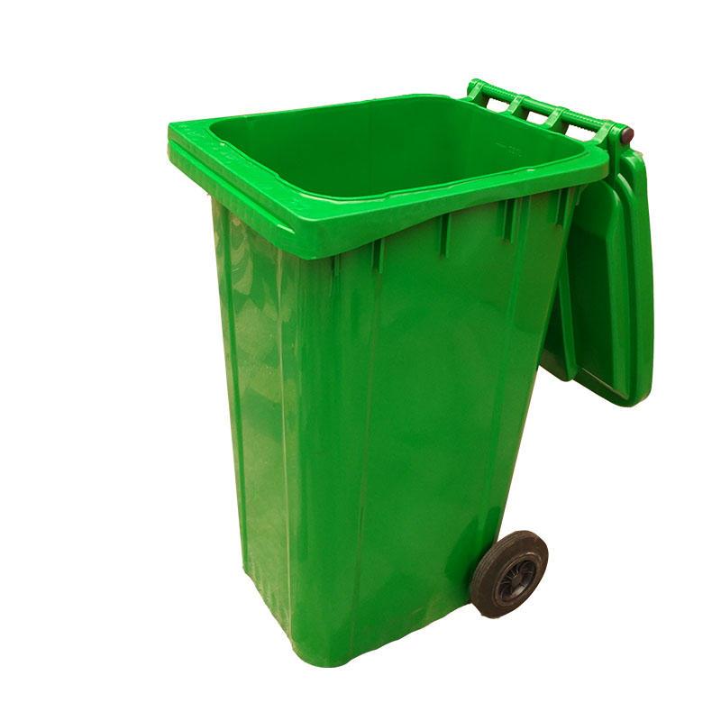 Outdoors Street Plastic 240L Trash Can Waste Bin