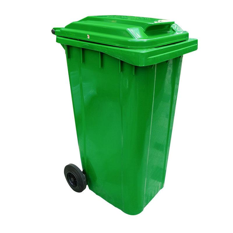 Outdoor 240L Plastic Wheeled Garbage Bin Trash Can Dustbin Waste Bin