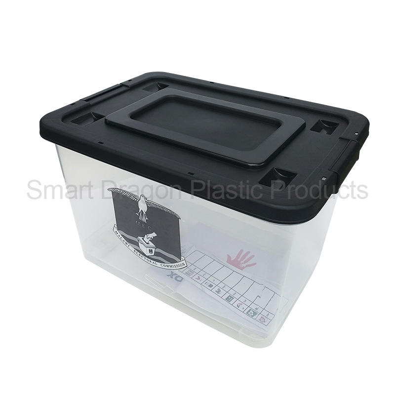 60L Plastic File Storage Boxes Plastic Container With Wheels