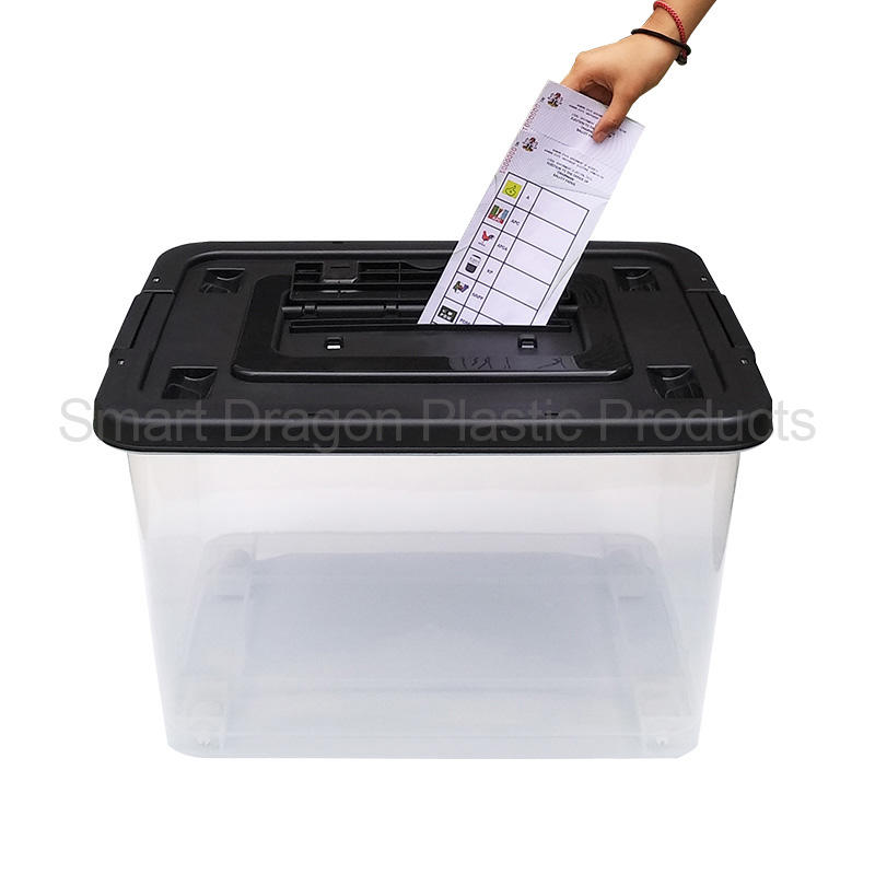 60L Durable Square Transparent Plastic Voting Ballot Election Box For China Supplier
