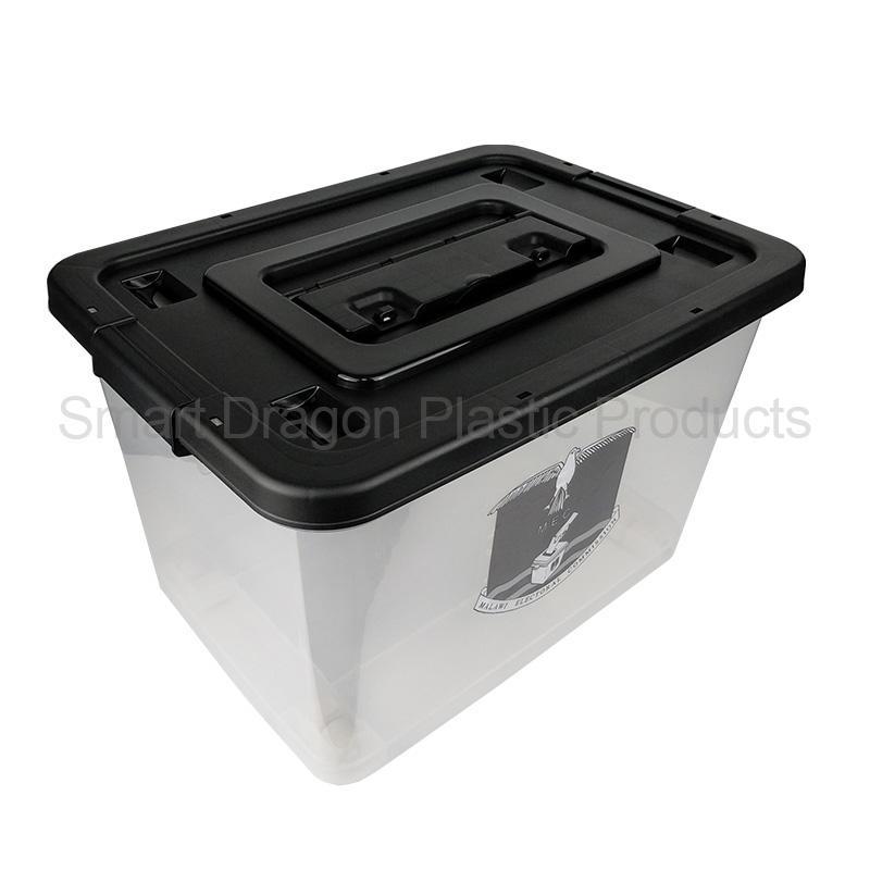 60L Durable Square Transparent Plastic Voting Ballot Election Box For China Supplier