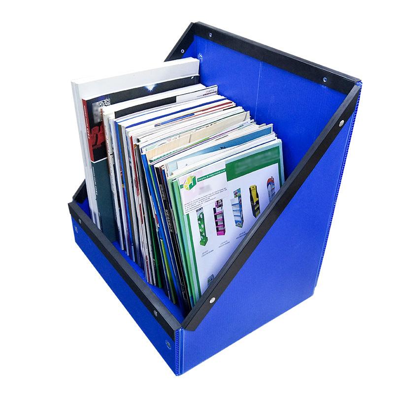 SMART DRAGON-Desk Bookcase Office Supplies Desktop Storage Box Book Information Archive-4