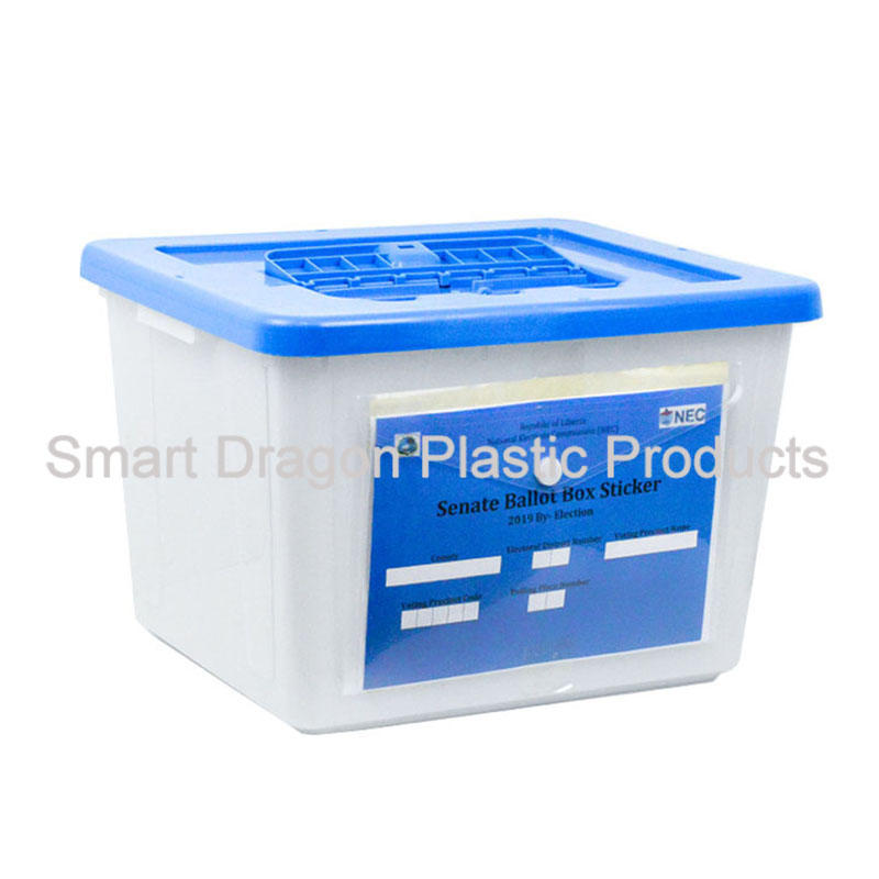 Custom Logo 40L Plastic Ballot Box For Algeria  President Election