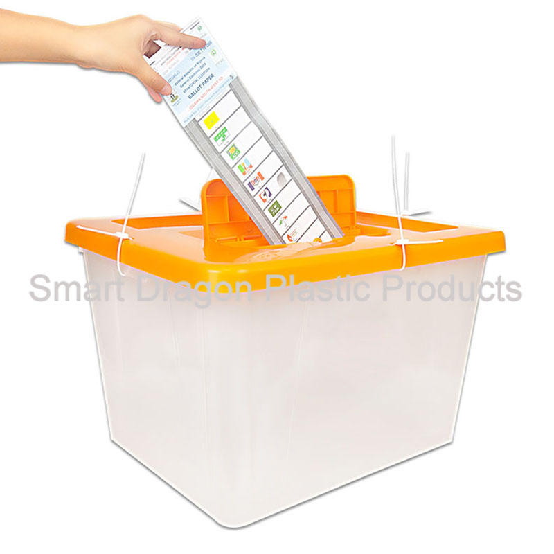 Clear Plastic Ballot Box For Bolivia Referendum Election