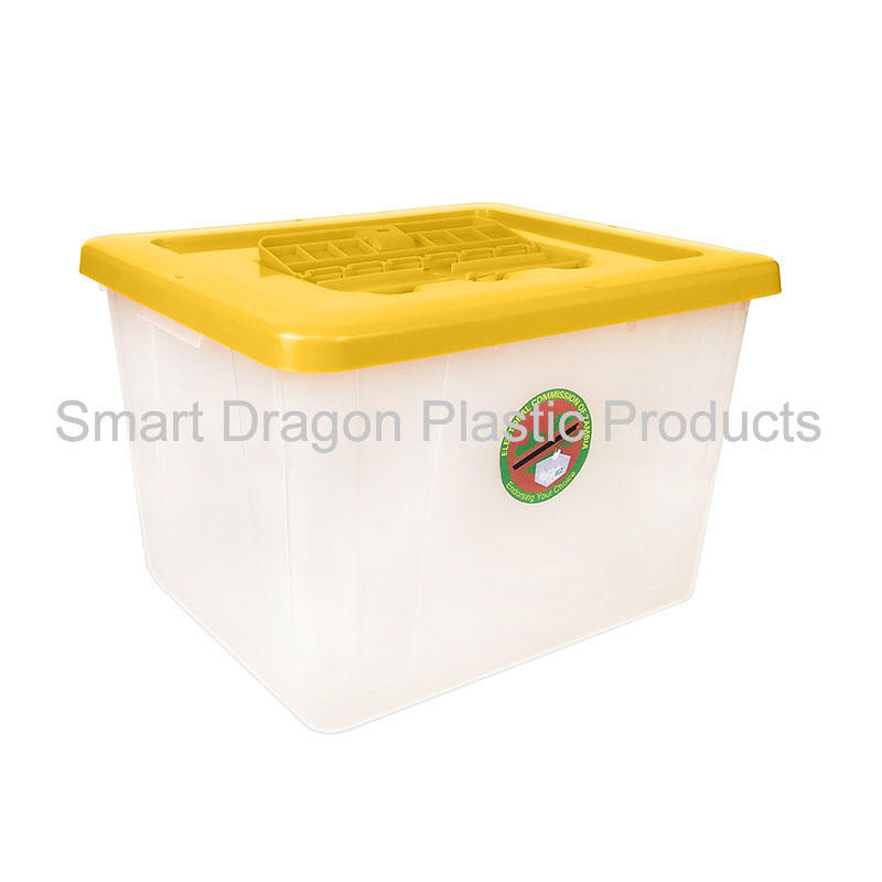 40-50L heavy duty translucent Plastic ballot box with lock for election