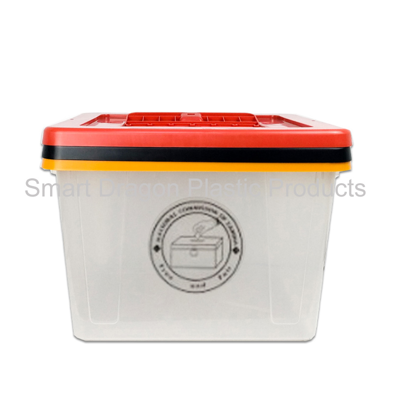 product-40-50L heavy duty translucent Plastic ballot box with lock for election-SMART DRAGON-img