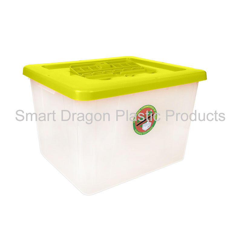40-50L Clear PP ballot voting box for voting for election
