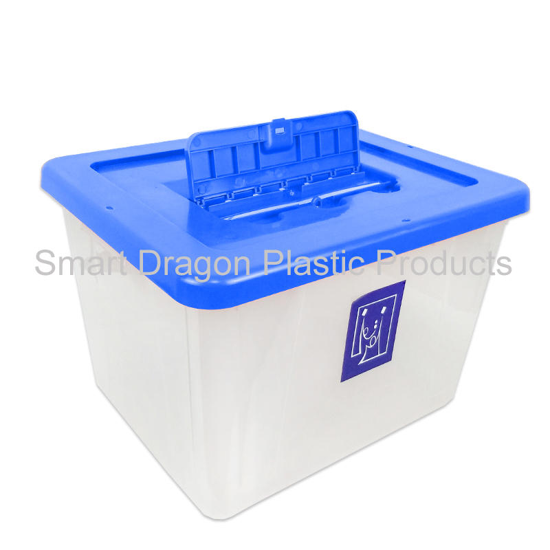 product-40-50L Clear PP ballot voting box for voting for election-SMART DRAGON-img