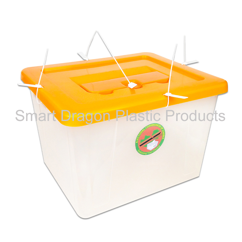 product-40L-50L heavy duty clear plastic ballot box large ballot boxes for election-SMART DRAGON-img