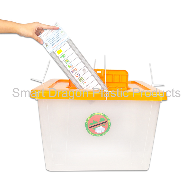 product-40L-50L Heavy Duty Translucent Plastic Ballot Box With Lock For Election Activity-SMART DRAG
