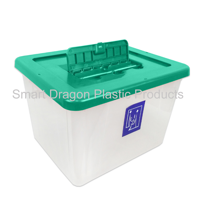 product-40L-50L transparency plastic ballot box floor standing plastic ballot box-SMART DRAGON-img