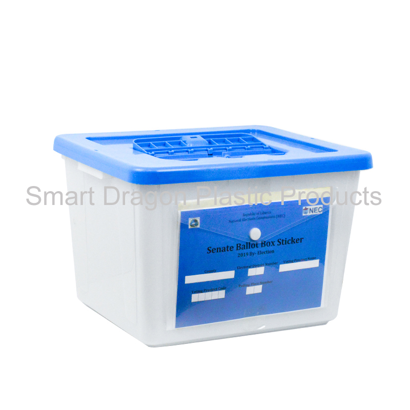 product-trabsparent PP plastic ballot box, blue clear voting box for election-SMART DRAGON-img
