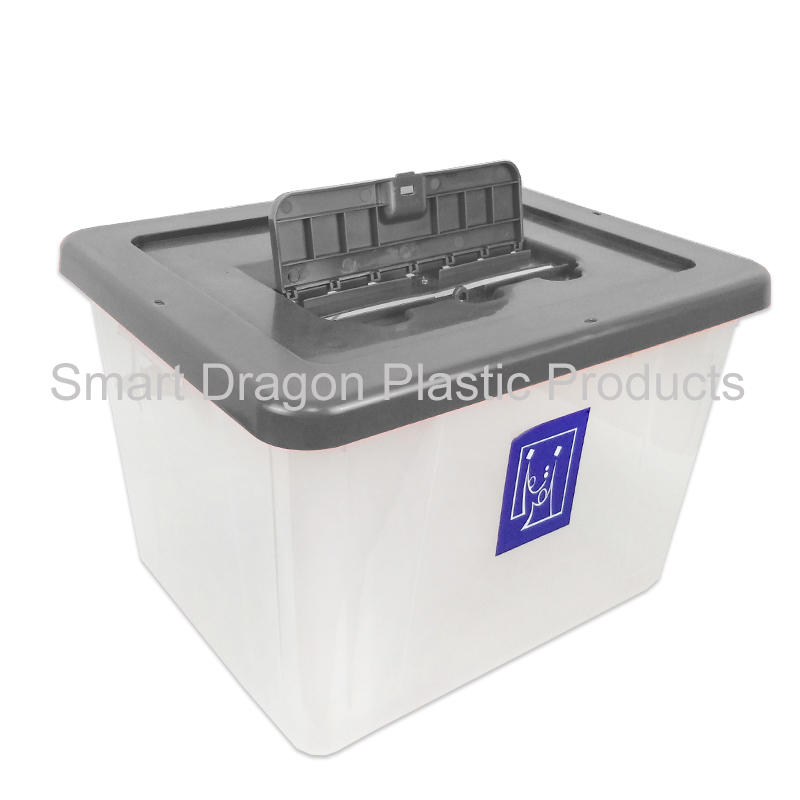 Clear Plastic Ballot Box With Lock Pp Plastic election Box With Voting