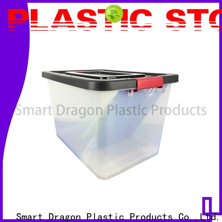 SMART DRAGON wheels tough plastic storage boxes customization for goods