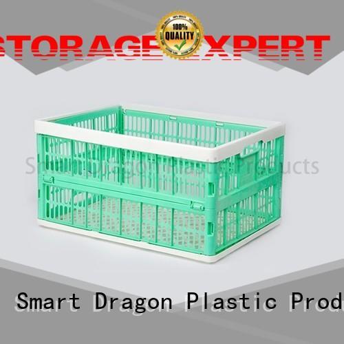 SMART DRAGON plastic portable crate heavy for supermarket