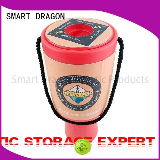 Plastic Charity Box Hand Held Plastic Collection Box Charity Box Logo Custom Made