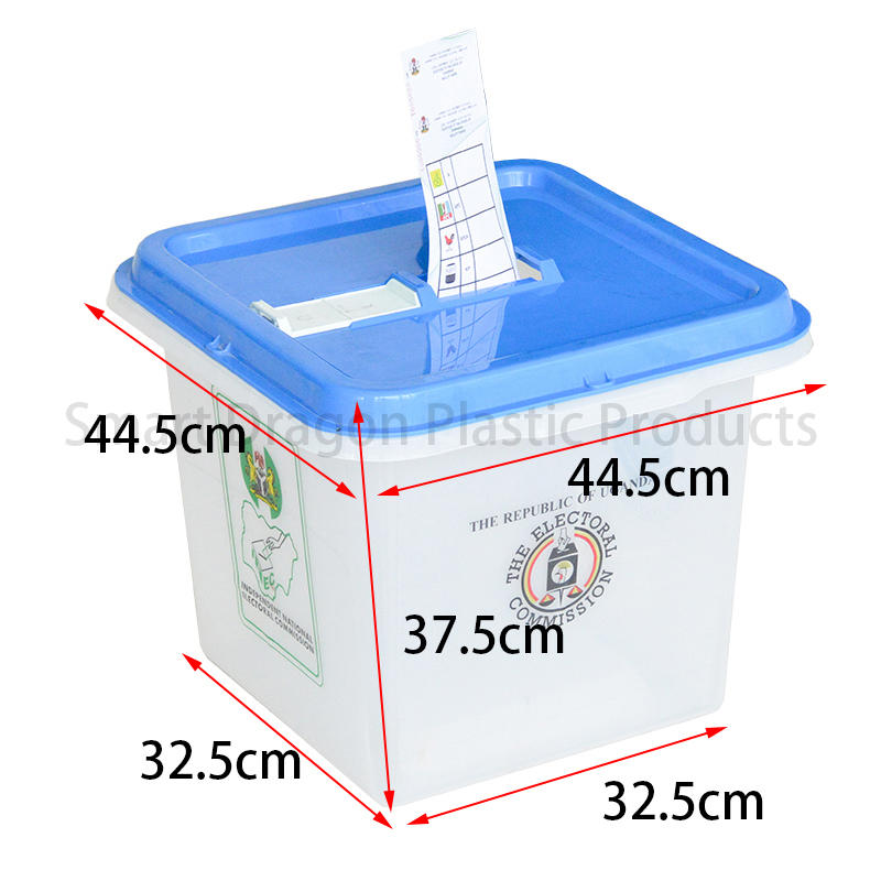 SMART DRAGON-High-quality Pp Material 45l-55l Plastic Ballot Boxes For Election Factory