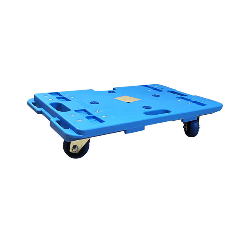 SMART DRAGON-Plastic Hand Truck, Plastic Moving 4 Wheel Hand Cart Dolly Stackable