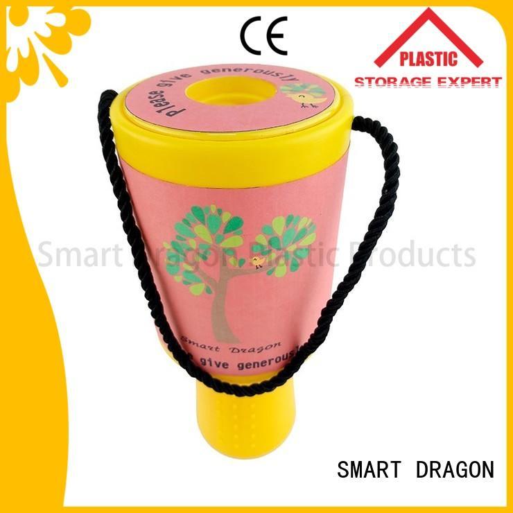 hand pink fundraising charity box SMART DRAGON Brand