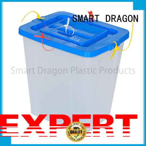 transparent ballot drop box blue for election