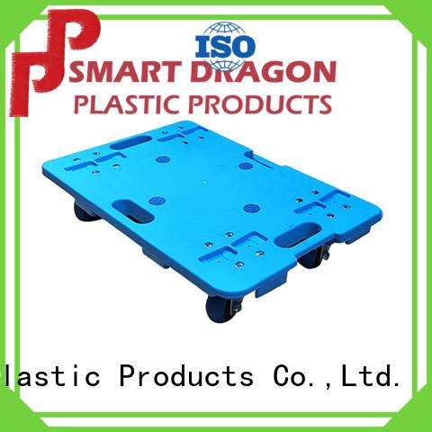 SMART DRAGON wheeled folding utility cart stackable for platform