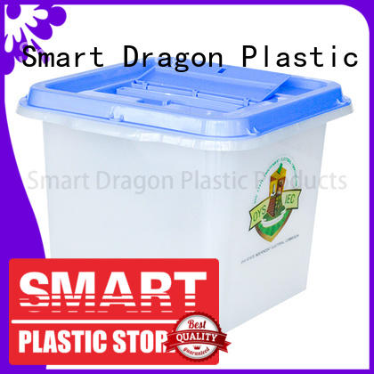 SMART DRAGON polypropylene transparent ballot box picture for election