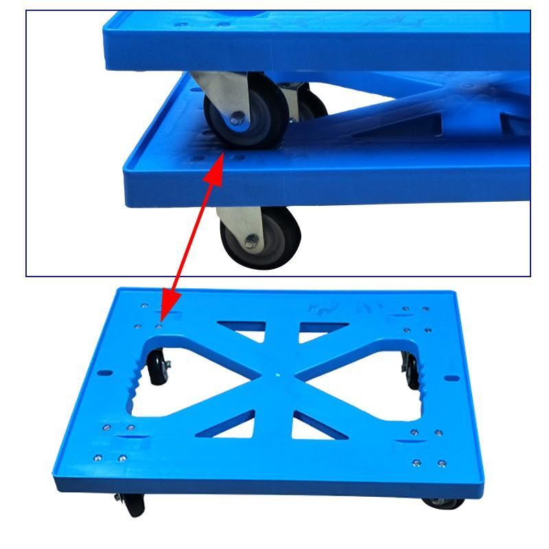 SMART DRAGON-High-quality Plastic Heavy Duty Folded Four-wheel Hand Trolley Cart Factory-2