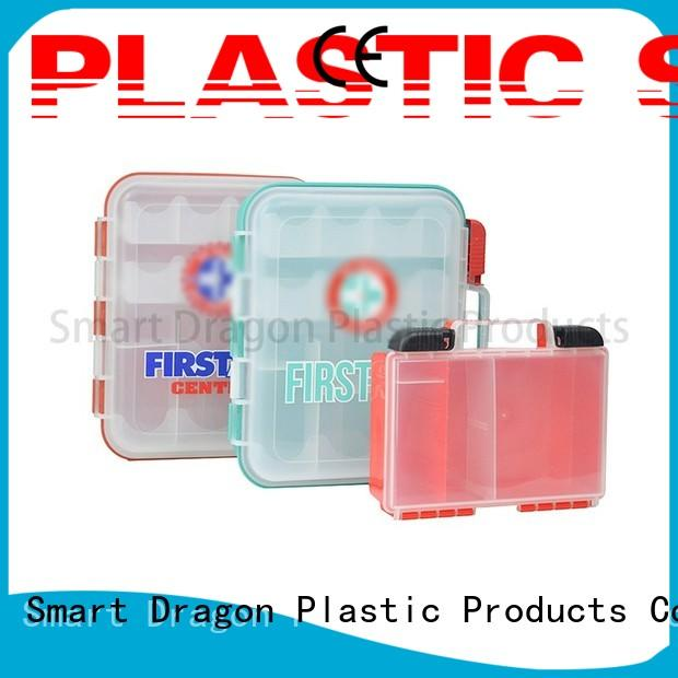 SMART DRAGON small design plastic first aid box cheapest factory price for storage