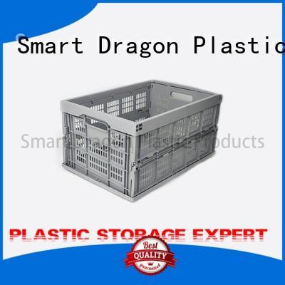 Food Grade Plastic Turnover Box Folding Basket Boxes
