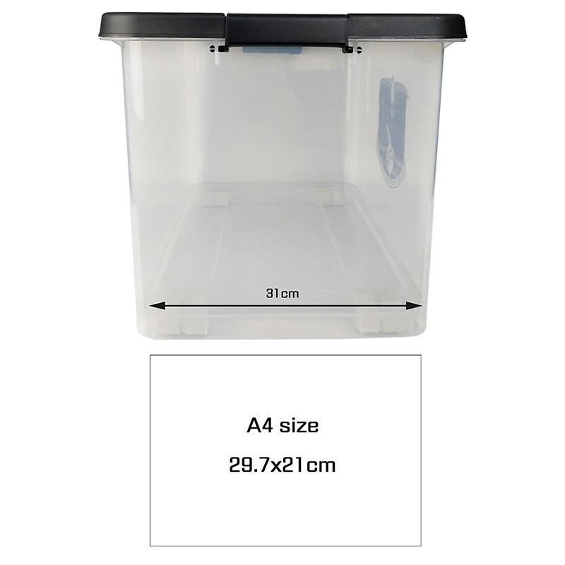 New Transparent Plastic Storage Box With Pulley-1
